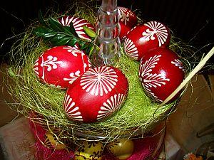 Pisanka (Polish) - Image: 05294 Easter exhibition in Nowotaniec, April 2011