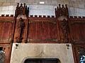 077 Castell de Santa Florentina (Canet de Mar), menjador reial, armari de la vaixella.JPG