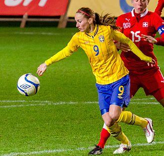 Kosovare Asllani - Asllani playing for Sweden in 2012
