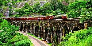 Kollam–Sengottai branch line - Image: 13 Arch bridge Kazhuthurutty Kerala