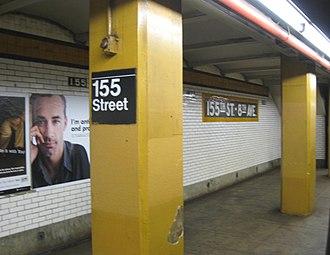 155th Street (IND Concourse Line) - Northbound platform