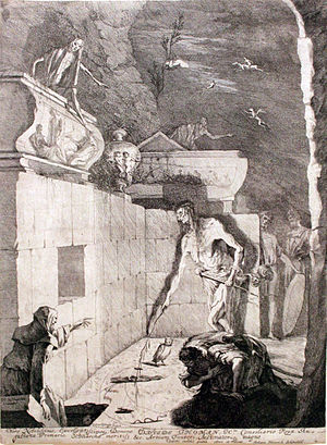 Witch of Endor - Saul speaking to Samuel's spirit at the Witch of Endor 1675 by Gabriel Ehinger, Städelsches Kunstinstitut