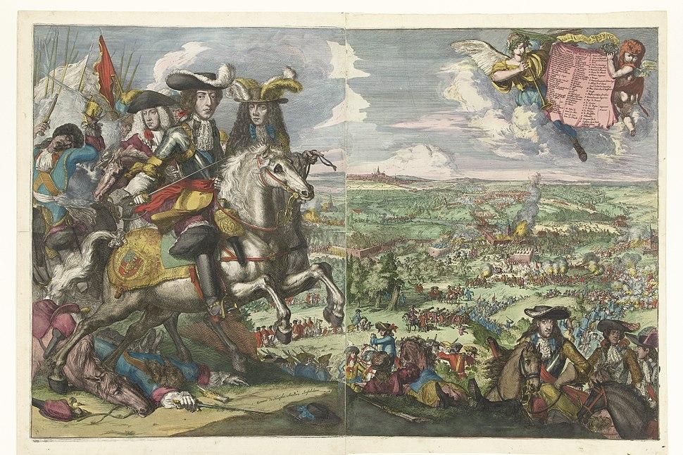 1678 Slag bij St. Denis - Romeyn de Hooghe
