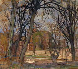Piet Mondrian: Spring Sun (Lentezon): Castle Ruin Brederode