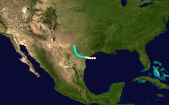 1851 Atlantic hurricane season - Image: 1851 Atlantic hurricane 1 track