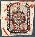 1860 5c Confed.Granadina red Panama Franca Sc10.jpg