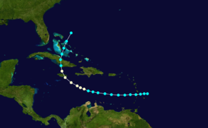1880 Atlantic hurricane season - Image: 1880 Atlantic hurricane 3 track