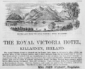 1885 Victoria Hotel Killarney ad Harpers Handbook for Travellers in Europe.png