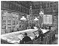 1886-05-30, La Ilustración Española y Americana, Madrid, El nuevo domicilio del Centro del Ejército y la Armada, La biblioteca, Comba, Vela.jpg