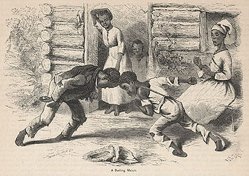 A drawing of slaves, made by whites, 2 generat...