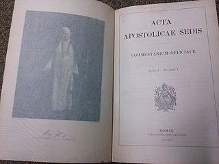 <i>Acta Apostolicae Sedis</i> official gazette of the Holy See