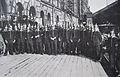 1909 storstrejk. Militärbevakning Centralstationen 1928.JPG
