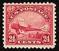 1923 -- 24¢ Rose & Blue -- DH.4 Biplane -- c6.jpg