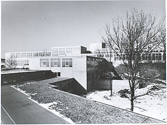 Ulm School of Design -  Building Ulm HfG, photography by Hans G. Conrad.