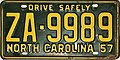 1957 North Carolina license plate.jpg