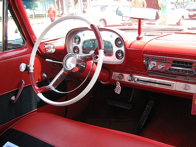 interior of a 1958 Plymouth Savoy