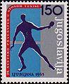 1965 World Table Tennis Championships stamp of Yugoslavia 2.jpg