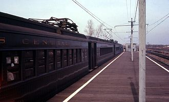 Metra Electric District - An Illinois Central train at Richton Park in 1968.