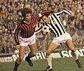 1973–74 Serie A - AC Milan v Juventus - Gianni Rivera and Giuseppe Furino.jpg