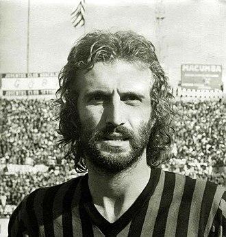 Luciano Zecchini - Zecchini with A.C. Milan in 1974