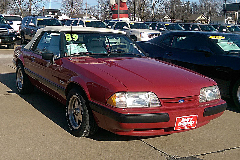 File:1989 Ford Mustang Convertible.jpg
