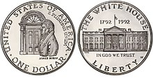 1992 White House Commemorative Proof Dollar