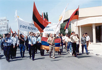Armenia–Cyprus relations - Demonstration on the Nagorno-Karabakh in Cyprus in 1993