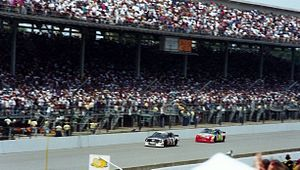 Big Machine Brickyard 400 - Jeff Gordon (No. 24) following Rick Mast (No. 1) at the 1994 Brickyard 400.