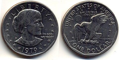 A dollar coin
