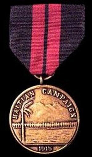 Haitian Campaign Medal - Image: 1st Haiti Med