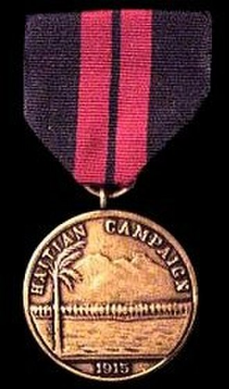 Haitian Campaign Medal - Image: 1st Haiti Med