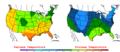 2006-04-29 Color Max-min Temperature Map NOAA.png