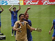2006 FIFA World Cup - Italy - Buffon, Materazzi and Perrotta