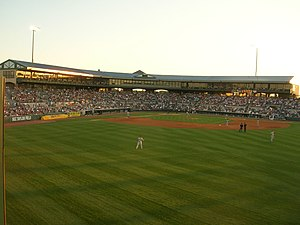 Principal Park - A view of Principal Park from the outfield in 2006.