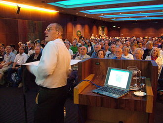 John C. Wells - John Wells at the World Congress of Esperanto, Rotterdam 2008