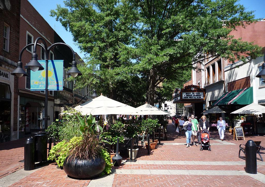 Charlottesville Virginia Downtown Pedestrian Mall