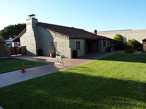 Historic Adobe Building - Courtyard view of Historic Adobe Building