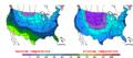 2010-01-07 Color Max-min Temperature Map NOAA.png