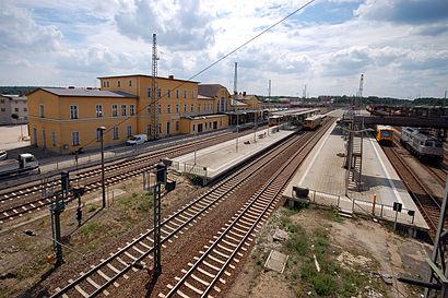 So kommt man zu dem Eberswalde Hauptbahnhof mit den Öffentlichen - Mehr zum Ort Hier