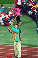 201000 - Opening Ceremony swimmer Brendan Burkett flag 4 - 3b - 2000 Sydney opening ceremony photo.jpg