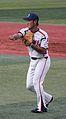 20111015 Takahiro Araki, infielder of the Tokyo Yakult Swallows, at Yokohama Stadium.jpg