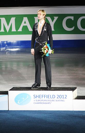 Evgeni Plushenko - Plushenko during the men's medals ceremony at the 2012 European Championships