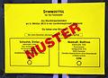 2013 Wahl des Oberbürgermeisters von Hannover, Stichwahl, 04a, Stimmzettel Muster, Stefan Schostok, SPD, Matthias Waldraff, CDU ....JPG