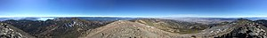 Mount Rose (Nevada) - Image: 2015 10 31 12 07 35 Full 360 degree panorama from the summit of Mount Rose, Nevada