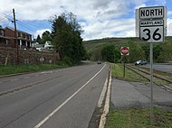 2016-05-05 16 09 08 View north along Maryland State Route 36 (Victory Post Road) in Westernport, Allegany County, Maryland.jpg