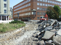 2016-08-27 road works at Berliner Platz (rubble).png