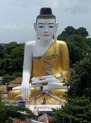 Buddha statue at Sehtatgyi Paya in Pyay, Myanmar