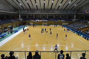 Comparison of association football and futsal - A futsal tournament in Japan
