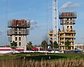 2016 Woolwich, Royal Arsenal Riverside, Waterfront construction site 01.jpg