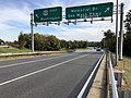 2018-10-31 15 22 44 View east along U.S. Route 50 (Arlington Boulevard) at the exit for the Arlington Memorial Bridge and George Washington Memorial Parkway in Arlington County, Virginia.jpg